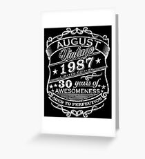 Premium Vintage August 1987 Edition - 30th Years Gift Greeting Card