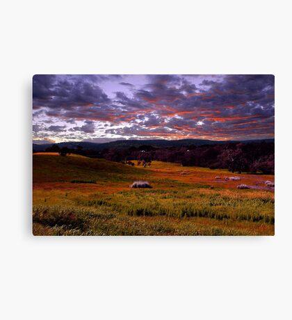 Farmland Sunrise  Canvas Print