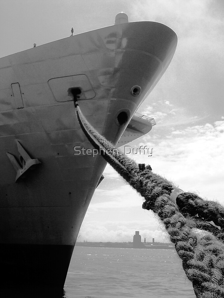 Docked Ark Royal by Stephen  Duffy