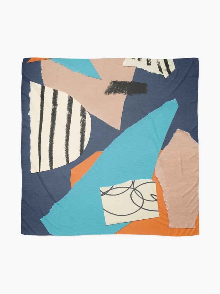 Alternate view of abstract collage Scarf