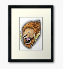Neotraditional Lion Framed Print