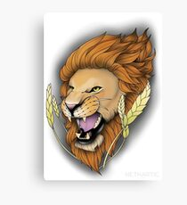Neotraditional Lion Canvas Print
