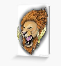 Neotraditional Lion Greeting Card