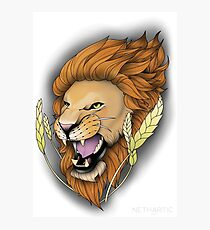 Neotraditional Lion Photographic Print
