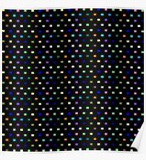 Quadrat - Regenbogen Poster