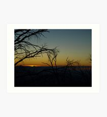 Sunset from Mt. Feathertop Art Print