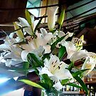 Beautiful Bouquet of Day Lilies in the Hotel at Woodend  by EdsMum