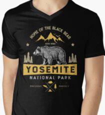 Yosemite National Park California T shirt - Vintage Bear Men's V-Neck T-Shirt
