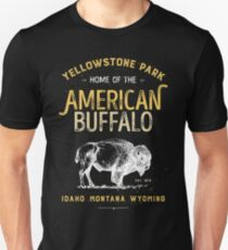 Yellowstone National Park Bison Buffalo T shirt - Vintage Unisex T-Shirt