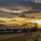 Lomond Hills Sunset,by Freuchie,Fife. by ninjabob