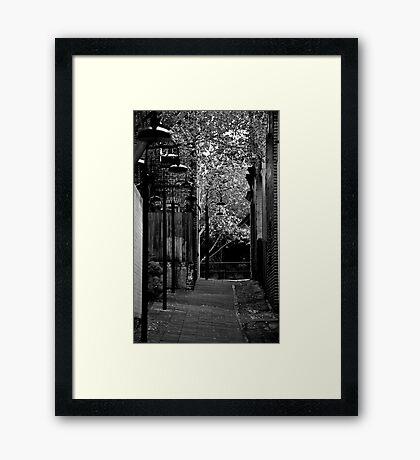 Black & White Rocks Framed Print