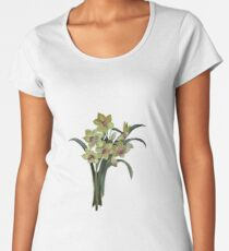 Lent Lily Spring Bouquet Vector Women's Premium T-Shirt