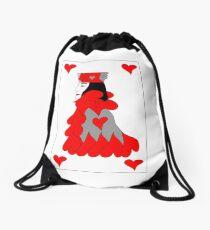King of Hearts Drawstring Bag