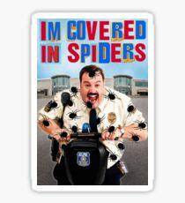 Paul Blart I'm Covered in Spiders Mall Cop Meme Sticker
