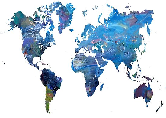 World map artistic view