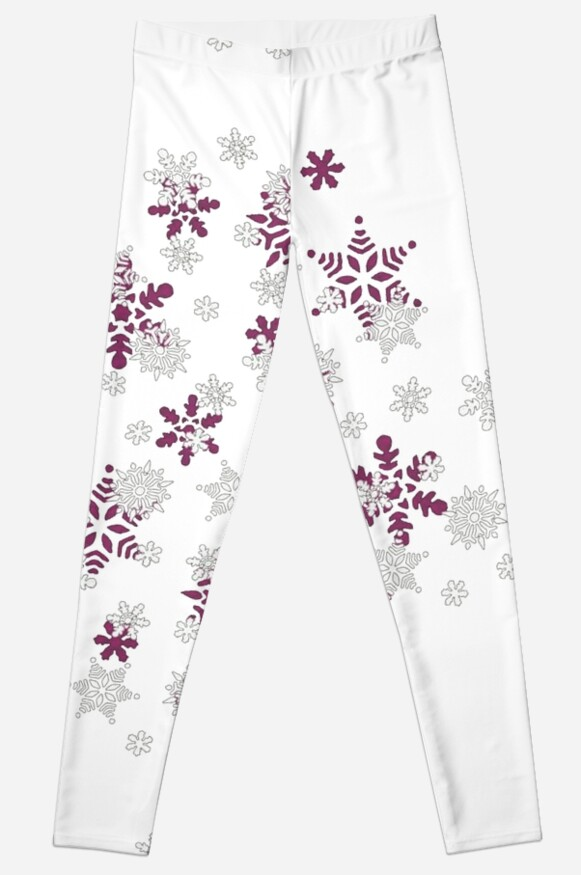 Heart Filled With Pink And White Snowflakes  by taiche