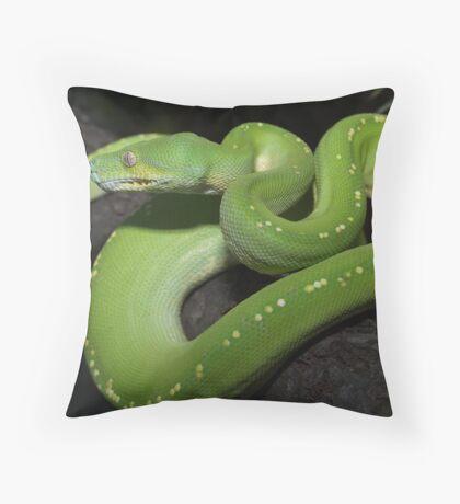 Australian Green Tree Python Throw Pillow