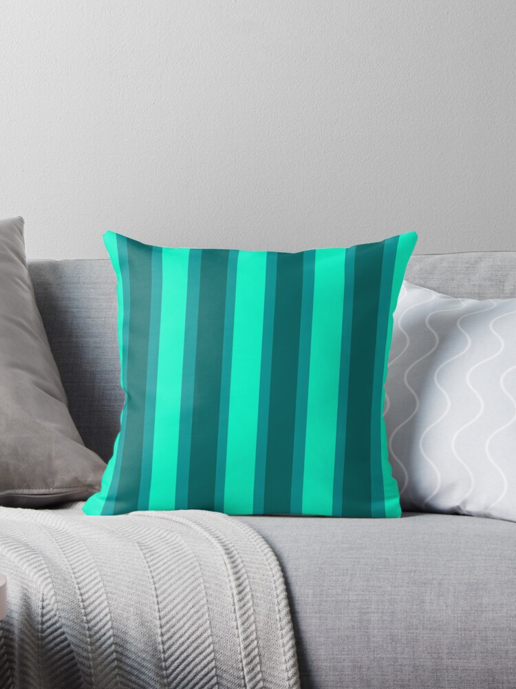 Beautiful Cushions Aqua and Turquoise Stripe by ozcushionstoo