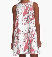 Color blot spots RED A-Line Dress