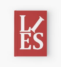 LIES White Text Parody of the Love Statue Hardcover Journal