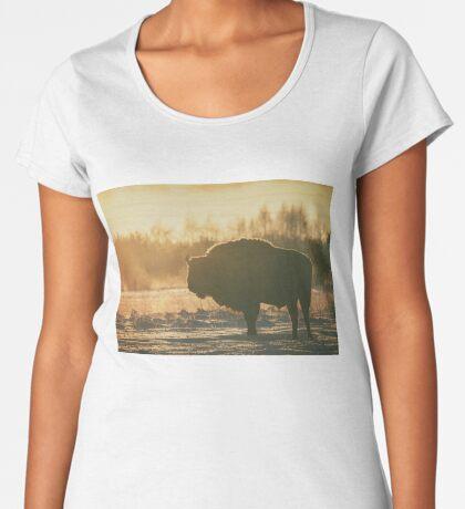 Bison Silhouette Women's Premium T-Shirt