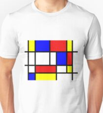 Red,blue yellow and white T-Shirt