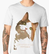 Life Without Cats I Don't Think So Vector  Men's Premium T-Shirt