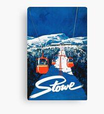 Lienzo Etiqueta engomada del cartel del viaje del esquí de Stowe vertmont vintage sking