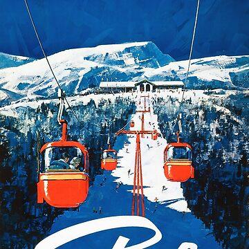 Stowe vertmont Vintage sking Skireiseplakataufkleber von simonZan