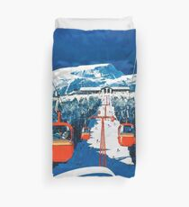 Stowe vertmont Vintage sking Skireiseplakataufkleber Bettbezug