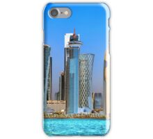 West Bay, Doha, Qatar, across the water iPhone Case/Skin