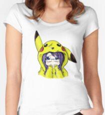 Pikachu Onesie Women's Fitted Scoop T-Shirt