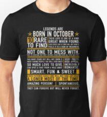 Born in October t-Shirt Unisex T-Shirt
