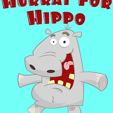 Toddlers & Kids Happy Hippo T Shirt by PaulDoodles