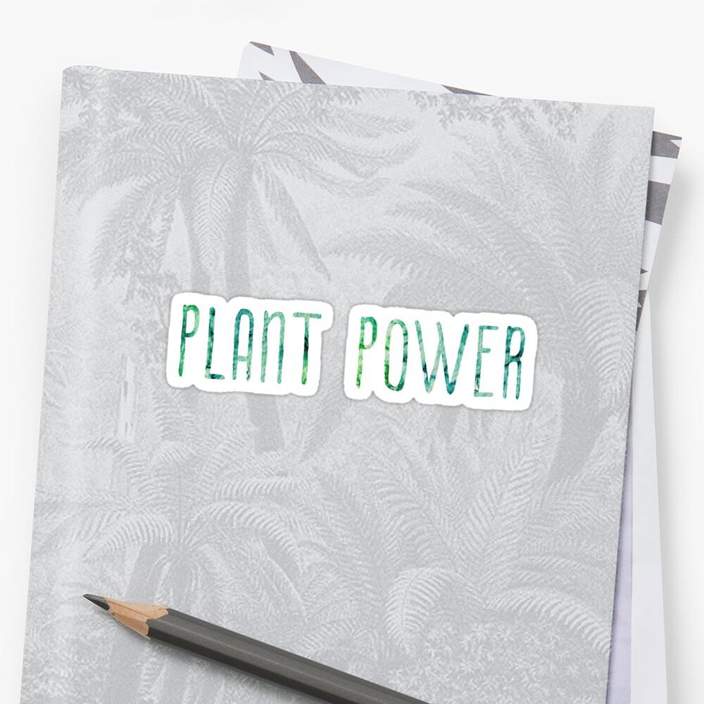 Plant Power sticker / design Sticker