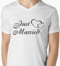 Just Married - I Just Got Married Wedding Festivities Tshirt Men's V-Neck T-Shirt