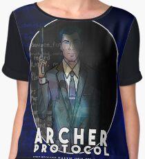 Archer Protocol Chiffon Top