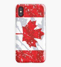 Canada Grunge Vintage Flag iPhone Case/Skin