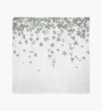 Gray Green Trailing Ivy Leaf Print Scarf