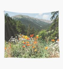 Mountain garden Wall Tapestry