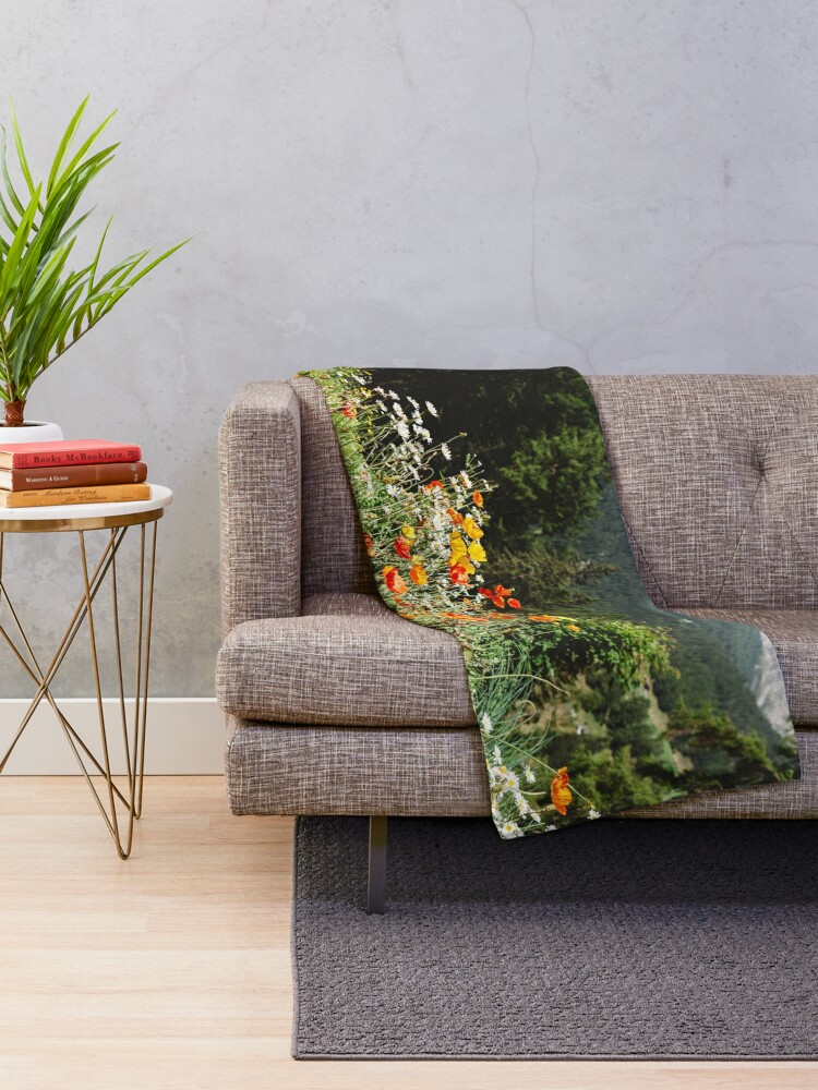 Alternate view of Mountain garden Throw Blanket