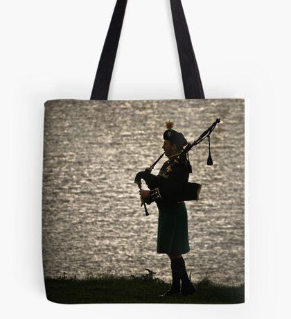 the Lone Piper Tote Bag