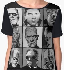 Universal Warhol Black&White Women's Chiffon Top