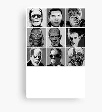 Universal Warhol Black&White Canvas Print
