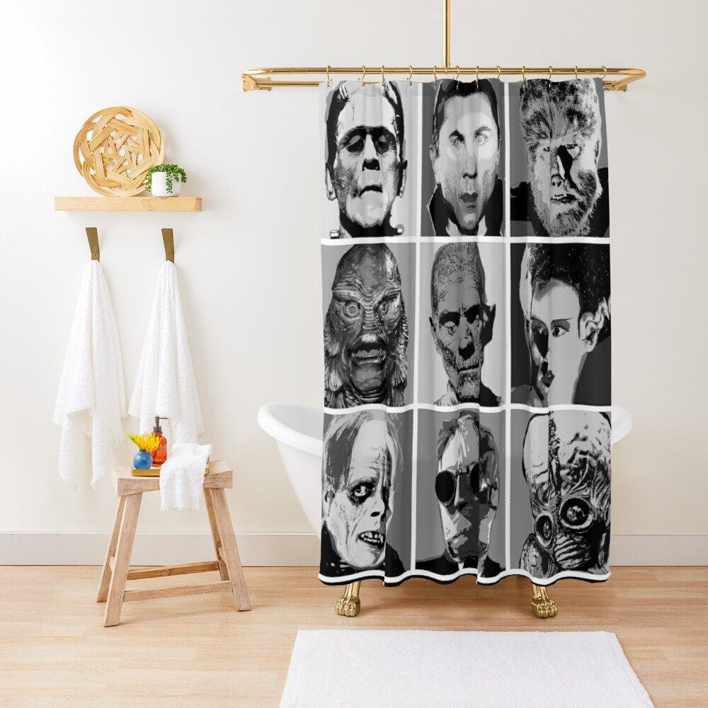 Universal Warhol Black&White Shower Curtain