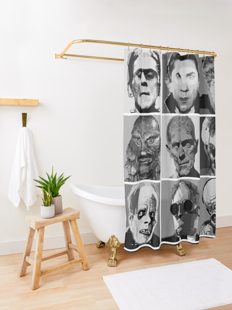 Alternate view of Universal Warhol Black&White Shower Curtain
