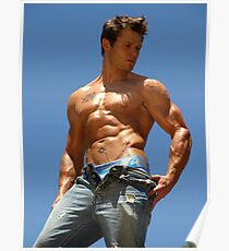 Elite Male Fitness Model - A088 Poster