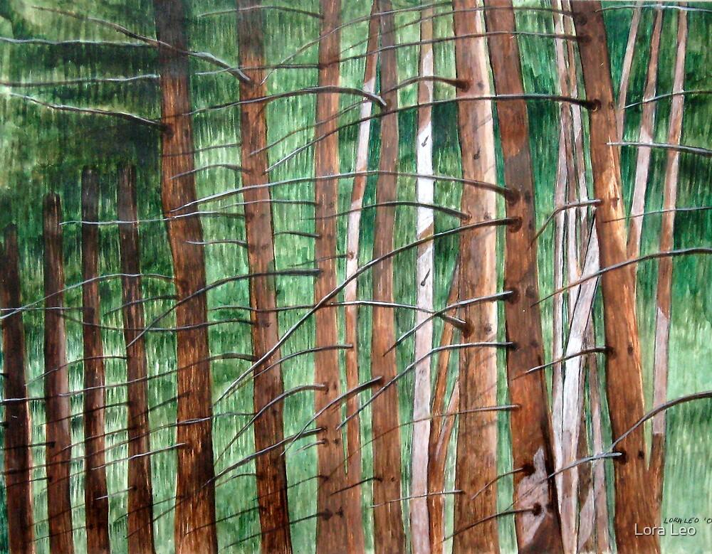 Trees 3 by Lora Leo
