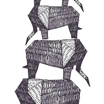 Origami elephants by masha-ksaunders