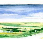 Rolling Prairie Farm Land by victorsart